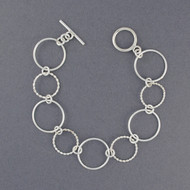 Sterling Silver Twisted Circles Bracelet