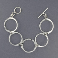 Sterling Silver Large Circles Bracelet