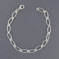 Sterling Silver Light Oval Link Bracelet