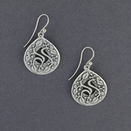 Intricate Teardrop Vine Earrings