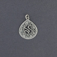 Ornate Teardrop Vine Pendant