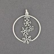Cascading Snowflakes Pendant
