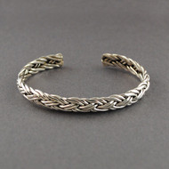 Sterling Silver Double Braided Cuff