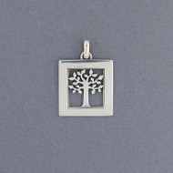 Square Tree of Life Pendant
