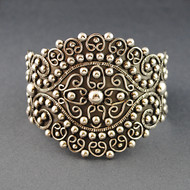 Sterling Silver India Inspired Cuff
