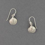 Sterling Silver Clam Shell Earrings