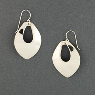 Sterling Silver Pointed Teardrop Earrings