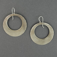 Sterling Silver Striped Circle Earrings