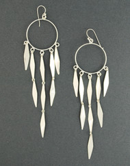 Sterling Silver Pointed Chandelier Earrings