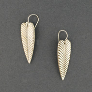 Sterling Silver  Antiqued Leaf Earrings
