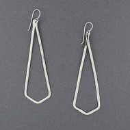 Sterling Silver Large Chevron Earrings