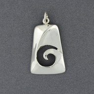 Sterling Silver Trapezoid Spiral Pendant