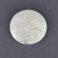Sterling Silver Foliage Circle Pendant