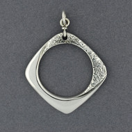 Sterling Silver Dual Texture Pendant