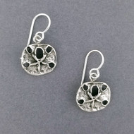 Sterling Silver Antiqued Sand Dollar Earrings