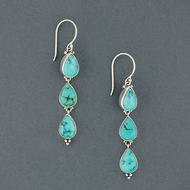 Rain Turquoise Earrings