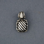 Sterling Silver Diagonal Striped Pendant