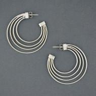 Sterling Silver Multi-Strand Hoop