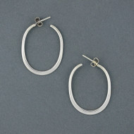 Sterling Silver Thin Oval Hoop