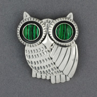 Sterling Silver Owl Pin / Pendant