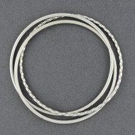 Sterling Silver 3-in-1 Bangle