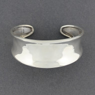 Sterling Silver Classic Concave Cuff