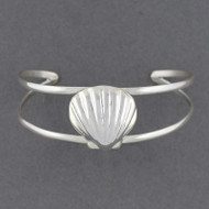 Sterling Silver Scallop Shell Cuff