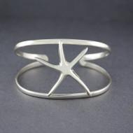 Sterling Silver Flat Starfish Cuff
