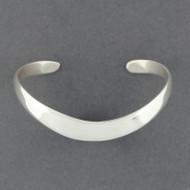 Sterling Silver Soft Wave Cuff