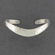 Sterling Silver Hammered Arc Cuff