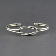 Sterling Silver Double Loop Cuff