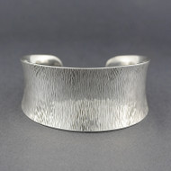Sterling Silver Concave Textured Cuff