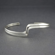 Sterling Silver Double Wave Cuff