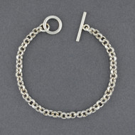 Sterling Silver Round Link