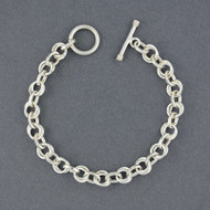 Sterling Silver Double Circles and Ovals Link