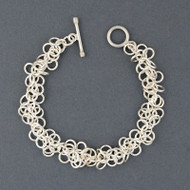 Sterling Silver Clustered Circles Link