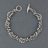 Sterling Silver Leaf Link