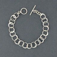 Sterling Silver Flattened Circles Link
