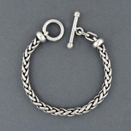 Sterling Silver Antiqued Braided Link