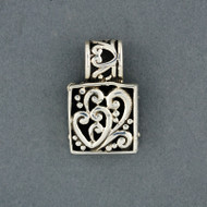 Sterling Silver Heart Scroll Pendant