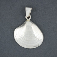Sterling Silver Textured Quahog Pendant