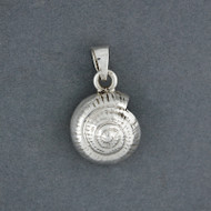 Sterling Silver Spiral Shell Pendant