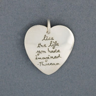 Sterling Silver Quote in Heart Pendant