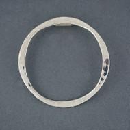Sterling Silver Big Hammered Circle Pendant
