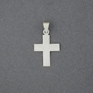 Sterling Silver Small Flat Cross Pendant