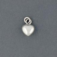 Sterling Silver Small Puffed Heart Pendant