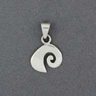 Sterling Silver Swirl Wave Pendant