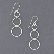 Sterling Silver 3 Circles Earring