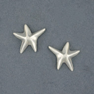 Sterling Silver Thin Starfish Stud Earring