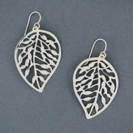 Sterling Silver Bold Leaf Earring